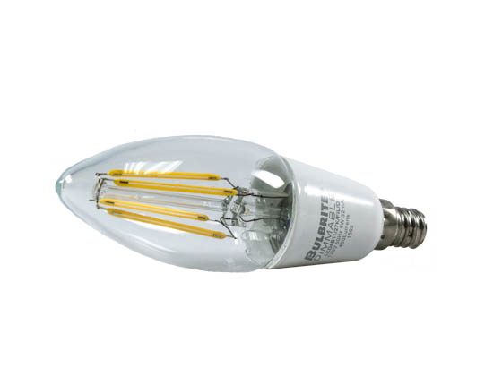 Bulbrite B776552 LED4B11/27K/FIL/D Dimmable 4W 2700K Decorative Filament LED Bulb