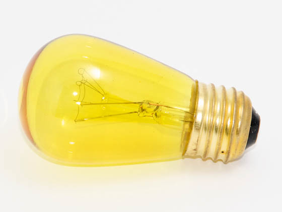 Bulbrite B701811 11S14TY (Trans. Yellow) 11 Watt, 130 Volt S14 Transparent Yellow Sign/Indicator Bulb