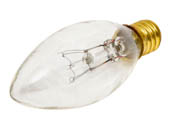 Bulbrite B400115 15CTC/25  (130V) 15W 130V Clear Blunt Tip Decorative Bulb, E12 Base