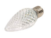 Bulbrite B770191 LED/C9C (Clear) 0.6W C9 Clear Warm White LED Holiday Bulb