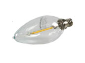 Bulbrite B776555 LED2B11/27K/FIL/E12 25 Watt Equivalent, 2 Watt 120 Volt Dimmable 2700K Warm White LED Decorative Filament Bulb