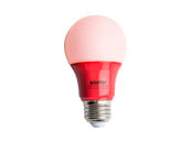 Satco Products, Inc. S9642 2A19/LED/RED/120V Satco Non-Dimmable 2W Red A19 LED Bulb, Enclosed Rated