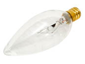 Bulbrite 400025 25CTC/32/3 25W 130V Clear Blunt Tip Decorative Bulb, E12 Base