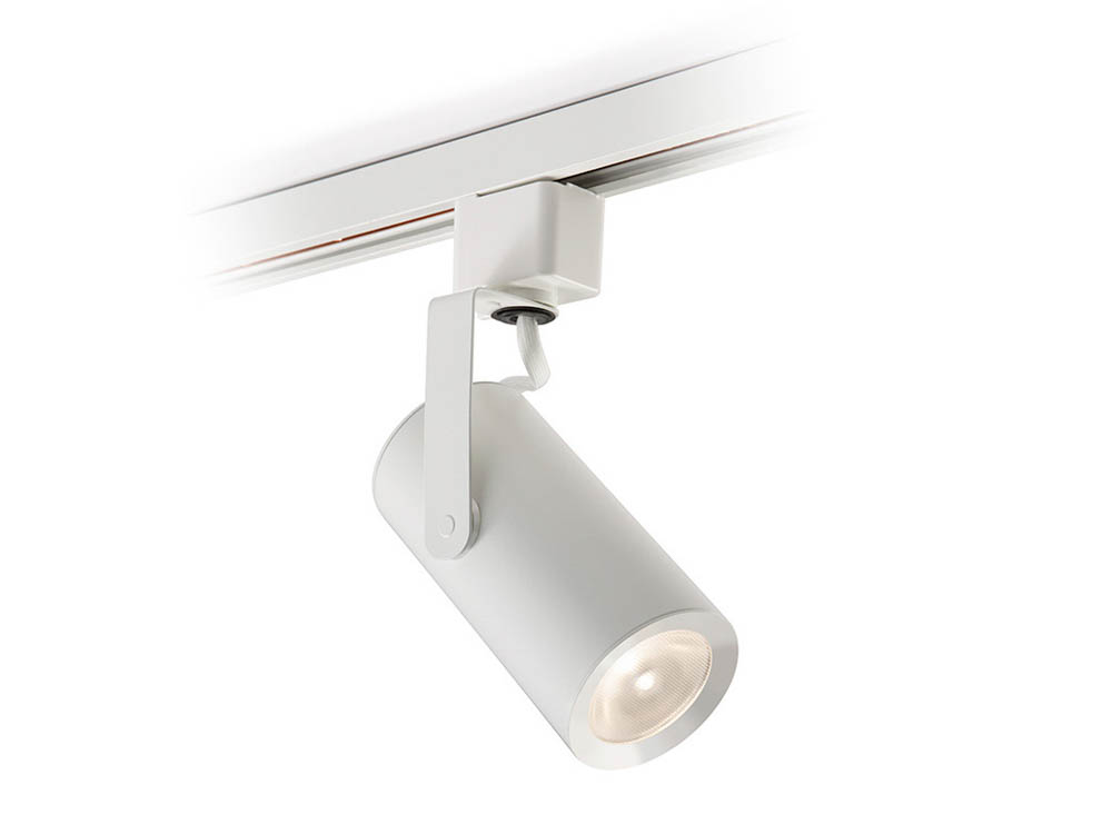 philips lightolier corepro 8 9 watt dimmable led mini cylinder track head 3000k white. Black Bedroom Furniture Sets. Home Design Ideas