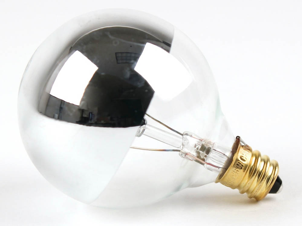 bulbrite 25 watt 120 volt g16 half mirror globe bulb 25g16hm half mirror. Black Bedroom Furniture Sets. Home Design Ideas