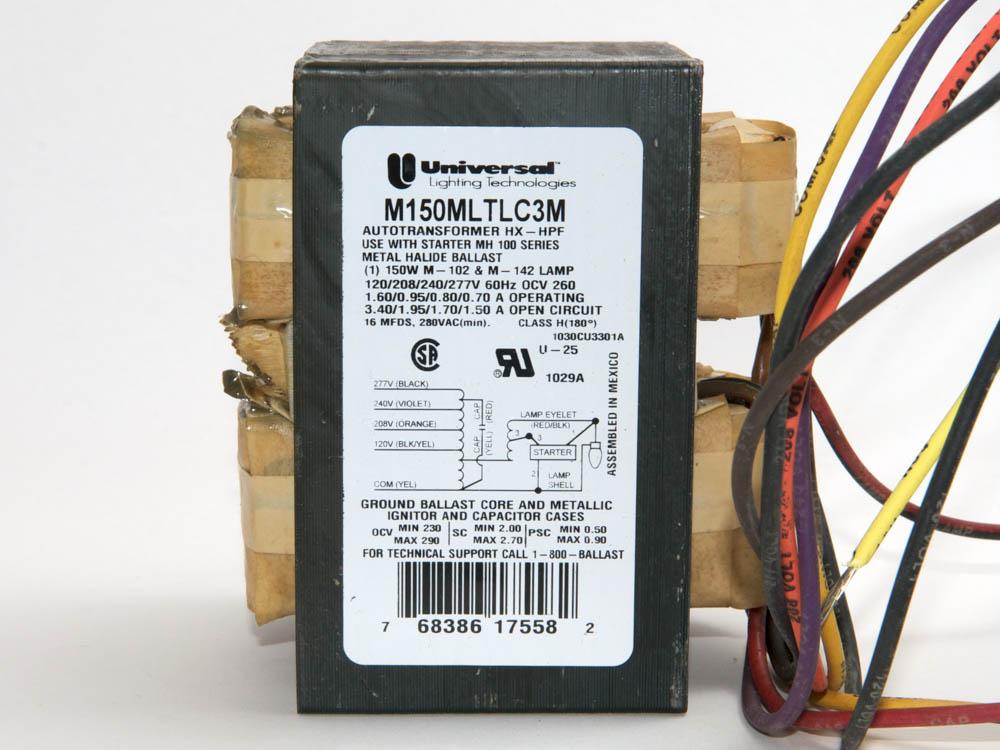 Universal 150 Watt, 120-277 Volt Metal Halide Ballast ...