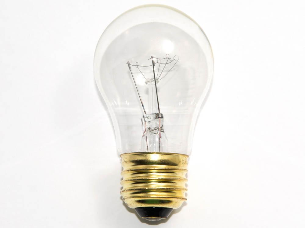 15 Watt 130 Volt A15 Clear Appliance Bulb 15a15 Cl 130v