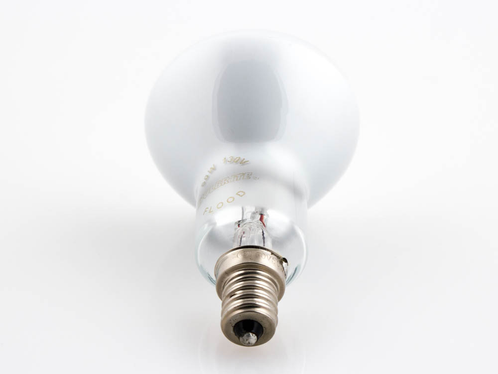 Ceiling Fan Light Bulbs Candelabra Base : Bulbrite watt volt r ceiling fan reflector with