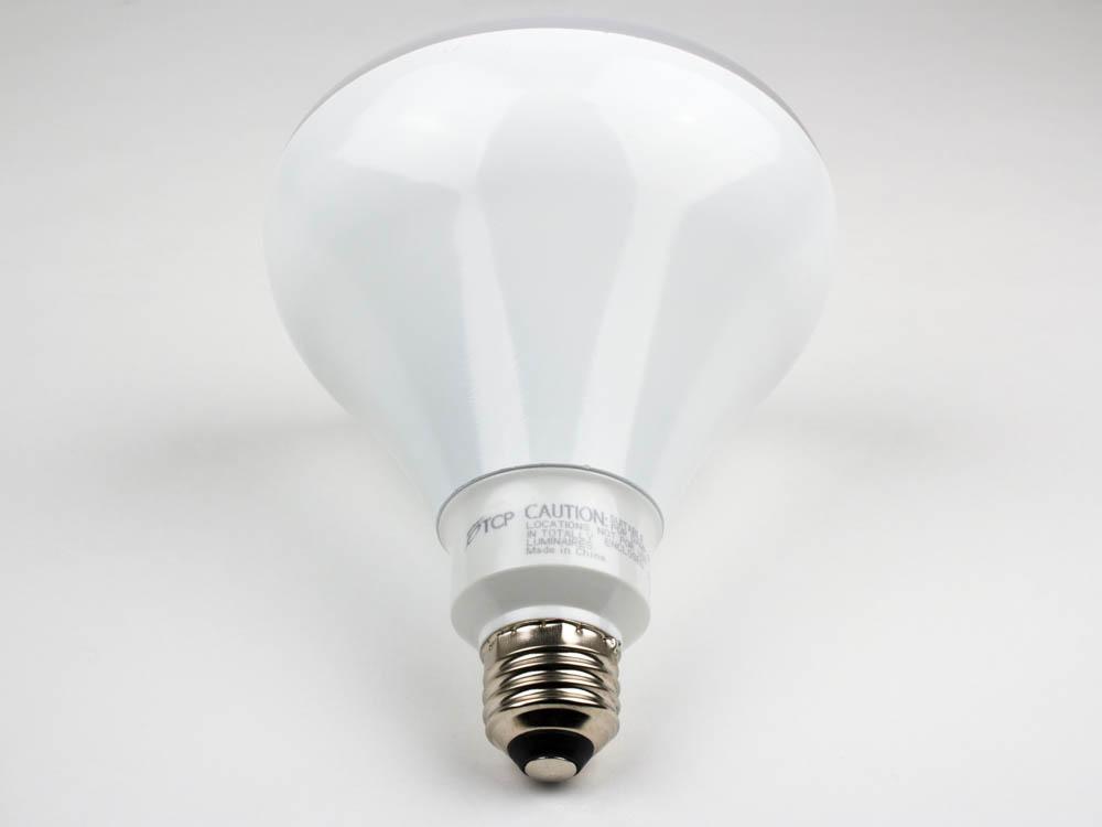 tcp 120 watt equivalent 17 watt 120 volt dimmable 25 000 hr 4100k cool white led br40 bulb. Black Bedroom Furniture Sets. Home Design Ideas