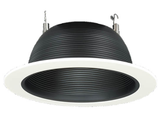 Sea Gull Lighting SGL1126-15 Incandescent White Recessed Trim With a Black Finish Baffle