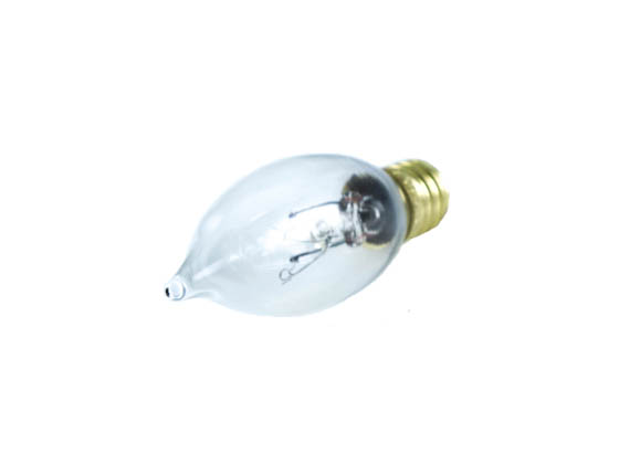 Bulbrite B403210 10CFC/20 10W 130V Clear CA7 Chandelier Bulb, E12 Base