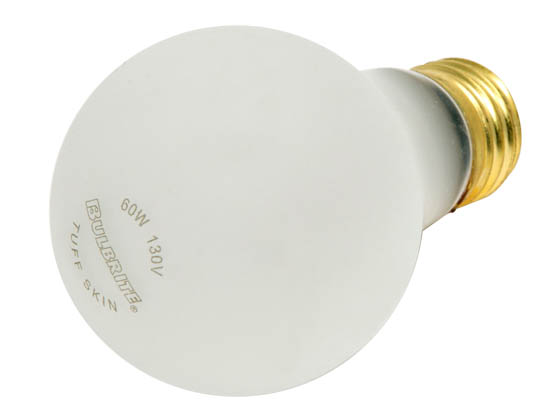 Bulbrite B108060 60A/RS/TF (Safety) 60W 130V A19 Safety Coated Rough Service E26 Base