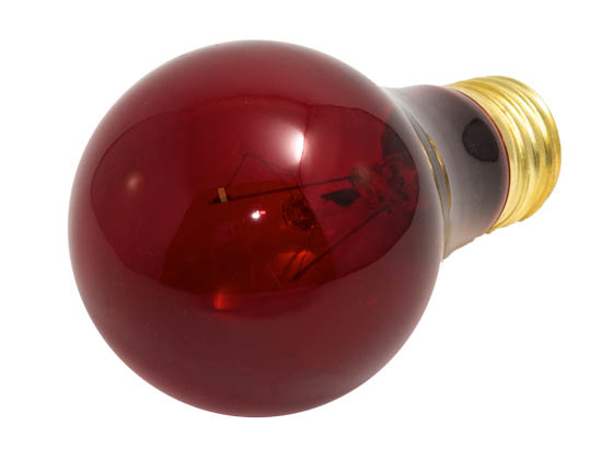 Bulbrite B105725 25A/TR (Transparent Red) 25W 120V A19 Transparent Red E26 Base