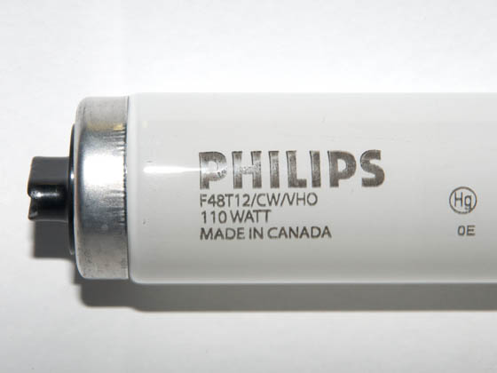 Philips Lighting 218198 F48T12CW/VHO Philips 110W 48in T12 Very High Output Cool White Fluorescent Tube