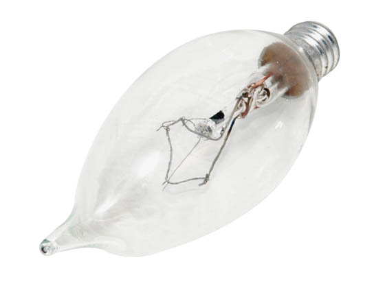 Philips Lighting 168088 BC-60BA9C/CL/LL  (120V) Philips 60W 120V Clear Bent Tip Long Life Decorative Bulb, E12 Base