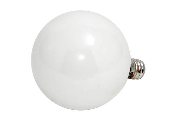 Philips Lighting 168484 BC-40G16 1/2 /WLL Philips 40W 120V G16 White Long Life Globe Bulb, E12 Base