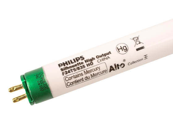 Philips Lighting 290205 F24T5/835/HO/ALTO Philips 24W 22in T5 High Output Neutral White Fluorescent Bulb