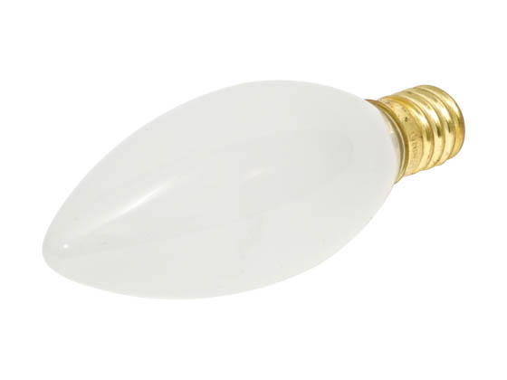 Bulbrite B401460 60CTF/E14 (Euro. Base) 60W 130V Frosted Blunt Tip Decorative Bulb, European E14 Base