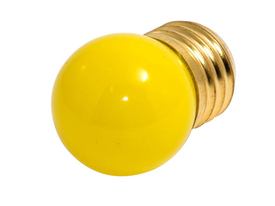 Bulbrite B702607 7.5S11Y (Yellow) 7.5W 130V S11 Yellow Sign E26 Base