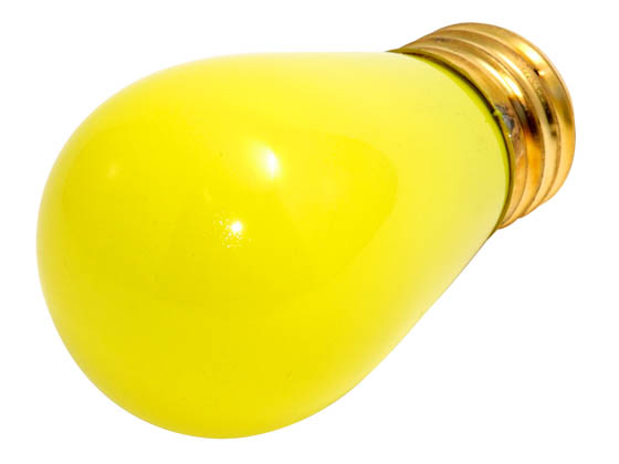 Bulbrite B701801 11S14CY (Yellow) 11W 130V S14 Yellow Sign or Indicator Bulb, E26 Base