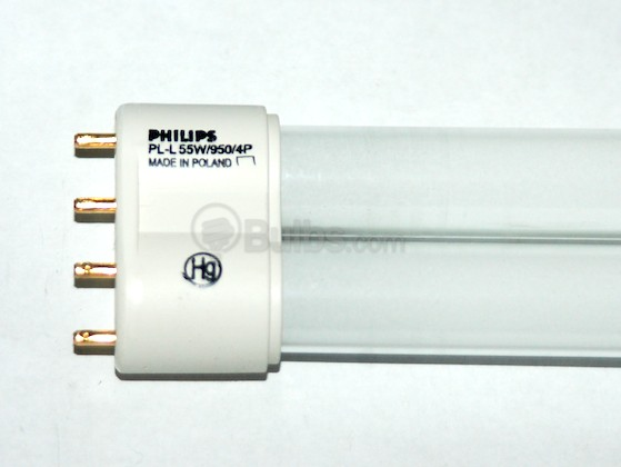 Philips Lighting 138446 PL-L 55W/950/4P Philips PLL 55W 4 Pin Bright White Long Single Twin Tube