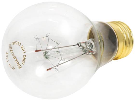 Bulbrite 40w 130v clear ceiling fan or appliance bulb e26 base bulbrite b104140 40a15c 40w 130v clear ceiling fan or appliance bulb e26 base aloadofball Images