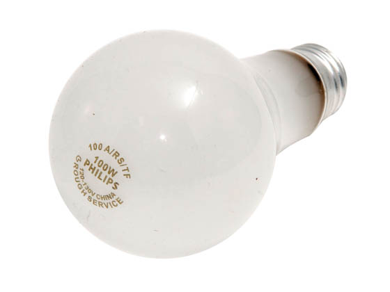 Philips Lighting 149716 100A/RS/TF (Safety) Philips 100W 120V to 130V A21 Rough Service Safety-coated Bulb
