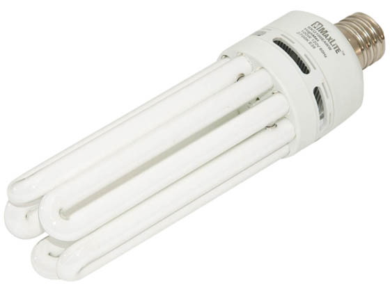 MaxLite M35844 SKQ100EAWW 100W Warm White Quintuple Twin Tube CFL Bulb, E39 Base