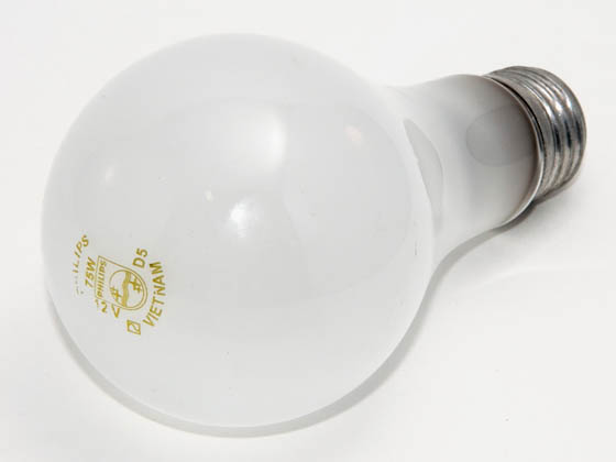 Philips 75 Watt, 12 Volt A21 Frosted Bulb | 75A21 (Low