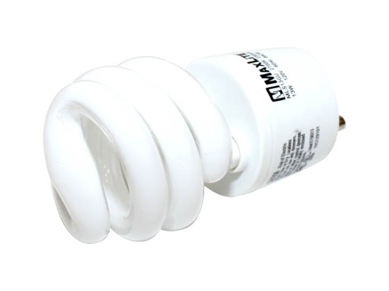 MaxLite M11279 MLS13GUWW GU24 60 Watt Incandescent Equivalent, 13 Watt, Warm White GU24 Spiral Compact Fluorescent Lamp