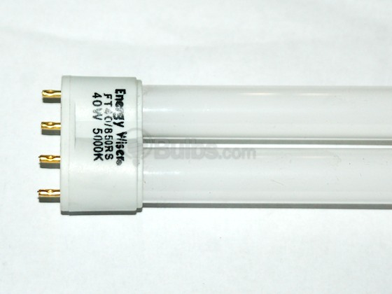 Bulbrite B504548 FT40/850RS (4-Pin) 40W 4 Pin 2G11 Bright White Long Single Twin Tube CFL Bulb