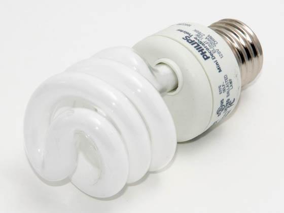 Philips 60 Watt Incandescent Equivalent 13 Watt 120 Volt Warm White Spiral Cfl Bulb Mini Dec Twister 13w Med El Mdt Discontinued Bulbs Com
