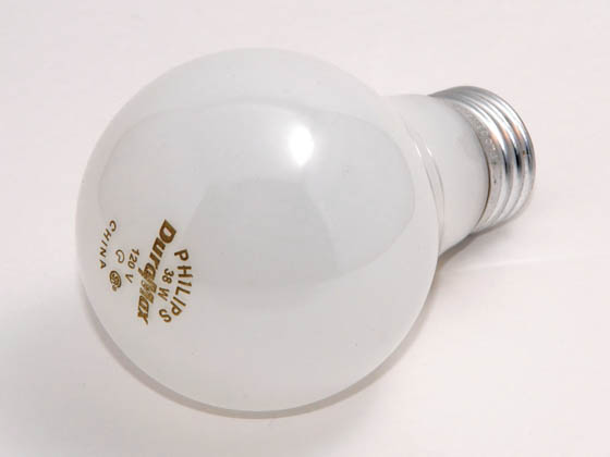 Philips Lighting 214478 38A/WL /TP (120V) Philips California Approved 38 Watt, 120 Volt A19 Soft White Long Life Bulb