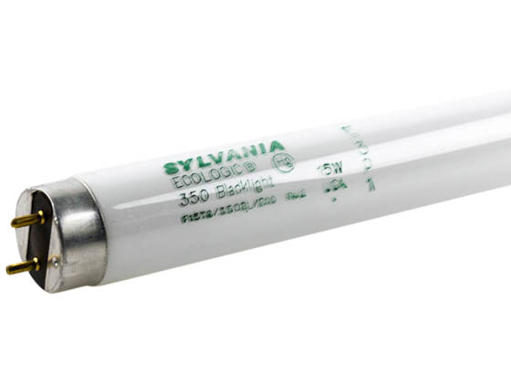 Sylvania SYL21623 F15T8/350BL 15W 18in T8 Black Light Fluorescent Tube