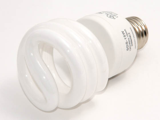 U Lighting America ULA000132 SPS-15W (Dimmable) 60-75W Equivalent, 15 Watt, 120 Volt Dimmable Warm White Spiral CFL Bulb