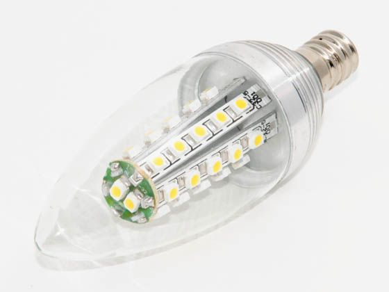 Bulbrite B770402 LED2CTC 15W Incandescent Equivalent, NON-DIMMABLE, 2.1 Watt, 120 Volt LED Decorative Bulb - Limited Inventory Available
