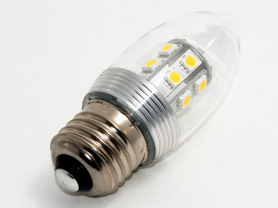 Bulbrite B770413 LED3ETC 25W Incandescent Equivalent, NON-DIMMABLE,  2.8 Watt, 120 Volt Soft White LED Decorative Bulb