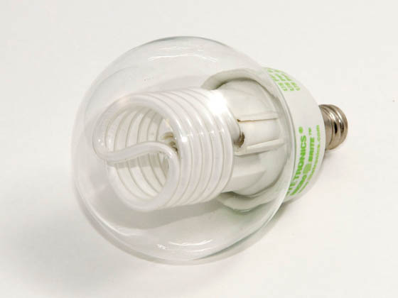 Litetronics MB-538DP 5W/G16.5/CL/PW 30 Watt Incandescent Equivalent, 5 Watt, Clear G16.5 DIMMABLE/FLASHABLE Cold Cathode Globe Bulb