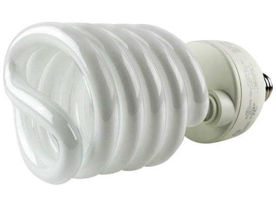 TCP TEC28968-51K 2896851K 68W Bright White Spiral CFL Bulb, E26 Base