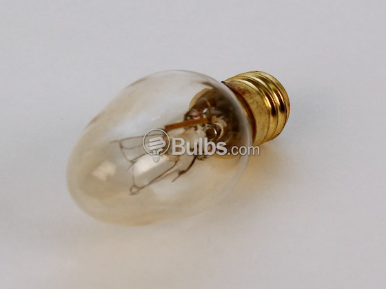 Bulbrite 709197 7C7C/Blink 7W 120V C7 Clear Blinking Holiday E12 Base