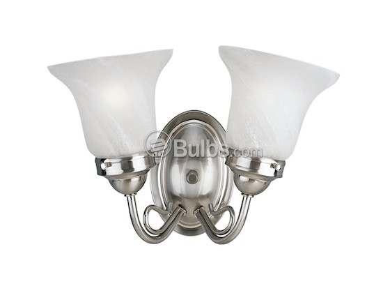 Progress Lighting P3187-09EBWB Two-Light Bedford Collection Bath & Vanity Light Fixture, Brushed Nickel Finish