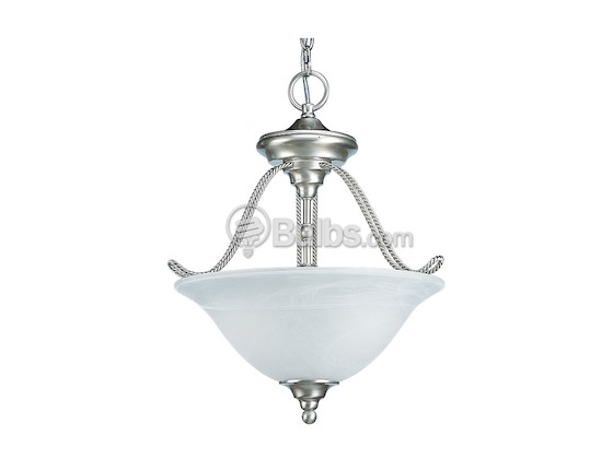 Progress Lighting P3468-09EBWB Two-Light CFL Foyer Light Fixture, Avalon Collection, Brushed Nickel