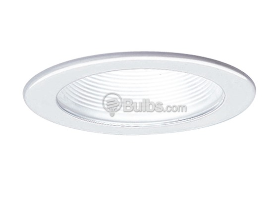 "Progress Lighting P8037-28 4"" White Step Baffle, IC & Non-IC Trim"