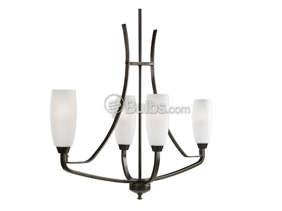 Progress Lighting Archie Collection 2 Light Antique Nickel: Four-Light Linear Chandelier Fixture, Westin Collection