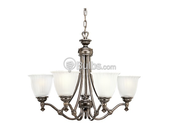 Progress Lighting P4115-77 Five-Light Chandelier Fixture, Renovations Collection, Forged Bronze