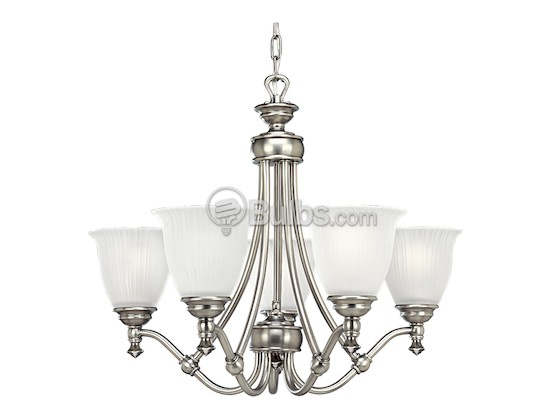 Progress Lighting P4115-81 Five-Light Chandelier Fixture, Renovations Collection, Antique Nickel