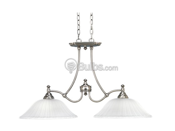 Progress Lighting P4113-81 Two-Light Linear Chandelier Fixture, Renovations Collection, Antique Nickel