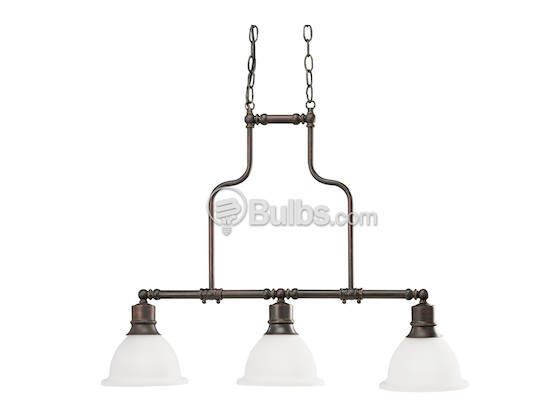Progress Lighting P4282-20 Three-Light Reversible Linear Chandelier Fixture, Madison Collection, Antique Bronze