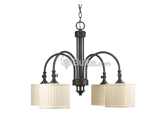 Progress Lighting P4421-84 Four-Light Chandelier Fixture, Clayton Collection, Espresso Finish