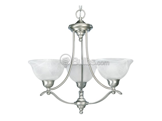 Progress Lighting P4067-09 Three-Light Chandelier Fixture, Avalon Collection, Brushed Nickel